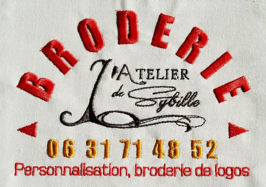Atelier de broderie en Corrèze, limousin. Broderie de logo pour les professionnels, clubs, associations, broderie de logos