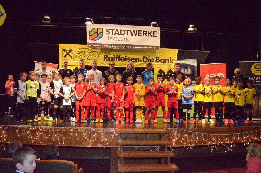 TOP 3 - Sieger: FC Admira - 2. Platz: Wiener Sport-Club - 3. Platz: Fußballschule Raffl I