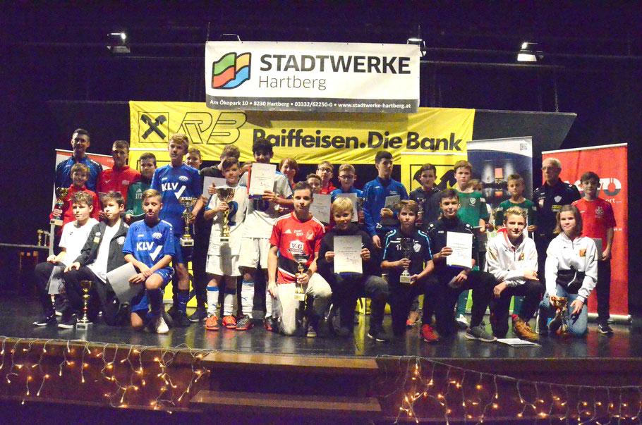 TOP 3 - Sieger: FAC - 2. Platz: ASK Klagenfurt - 3. Platz: SK Sturm Graz