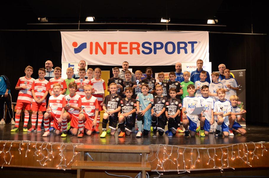 TOP 3 - Sieger: SK Sturm Graz - 2. Platz: GAK Juniors - 3. Platz: ASV 13 II