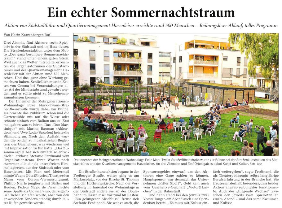Rhein-Neckar-Zeitung, 07.09.2020