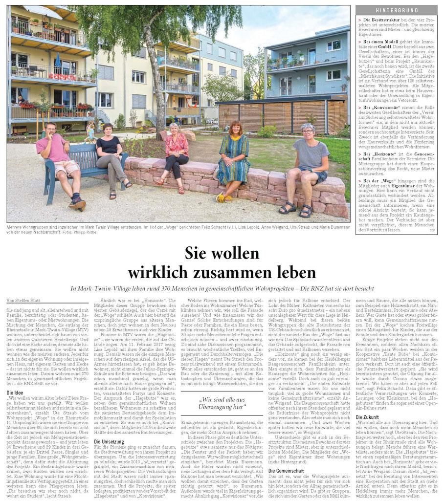 Rhein-Neckar-Zeitung, 17.09.2020