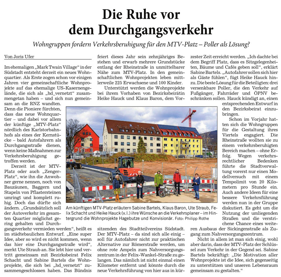 Rhein-Neckar-Zeitung 20/21.03.2021