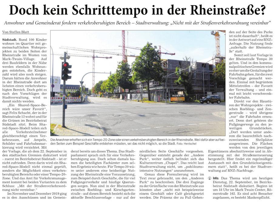 Rhein-Neckar-Zeitung, 22.09.2020
