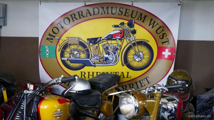 Logo im Motorradmuseum Wüst Oberriet
