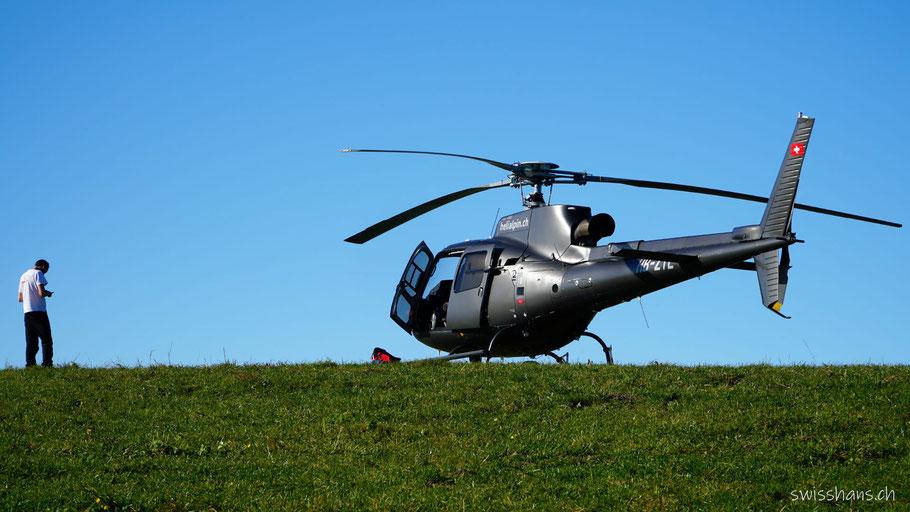 Helikopter auf dem St. Anton