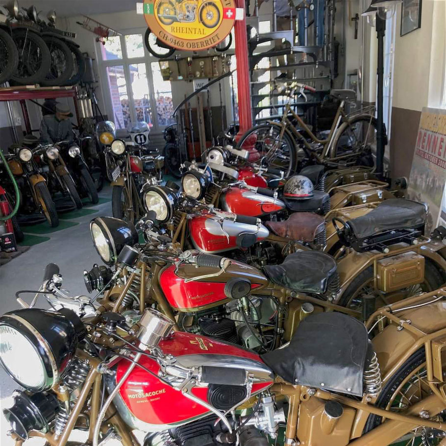 Antike Motorräder aus dem Motorradmuseum Wüst, Oberriet.