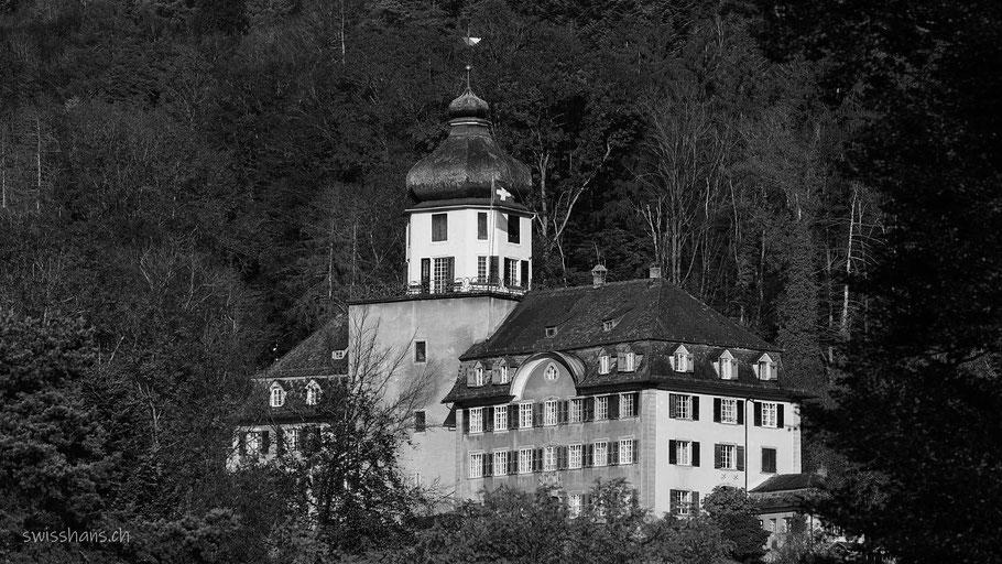 Schloss Grünenstein Balgach in schwarz-weiss