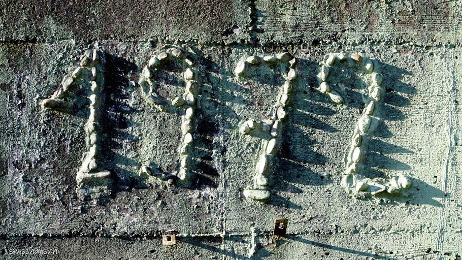 Jahreszahl auf der Betonwand beim Älpli bei Oberriet