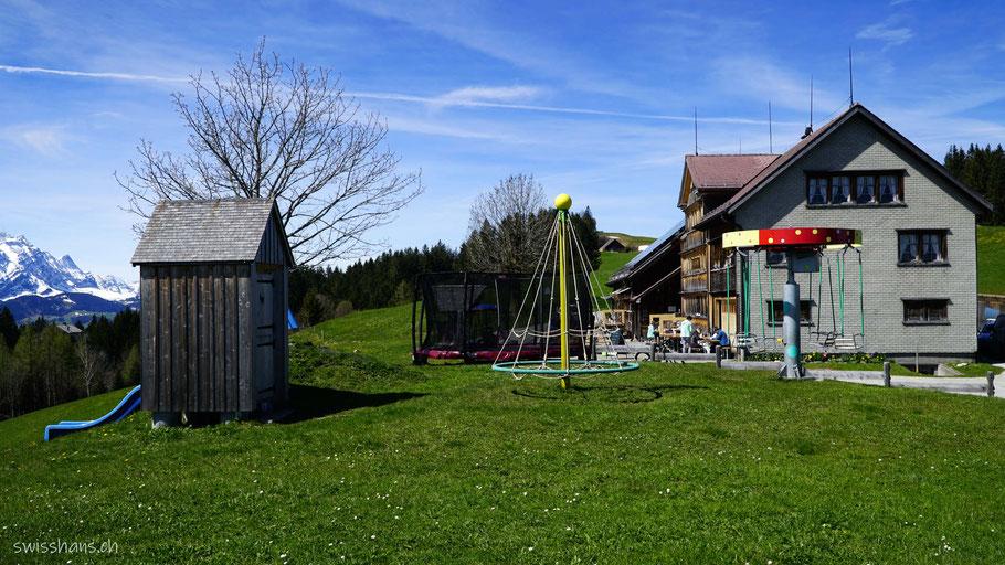 Restaurant unterer Gäbris mit Spielplatz