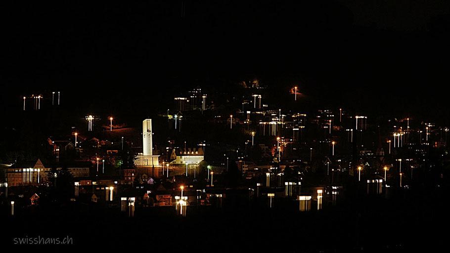 Nachtaufnahme von Rebstein