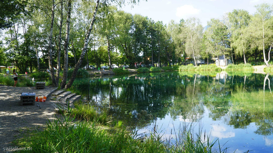 Fischteich beim Angelparadies Güfel in Meiningen