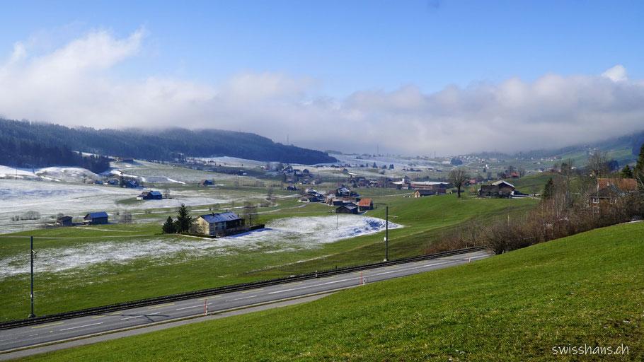 Winterlandschaft zwischen Gais und Appenzell
