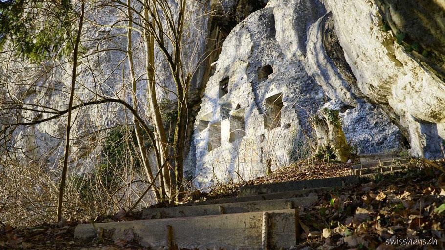 Burgruine Wichenstein bei Oberriet mit Treppenstufen
