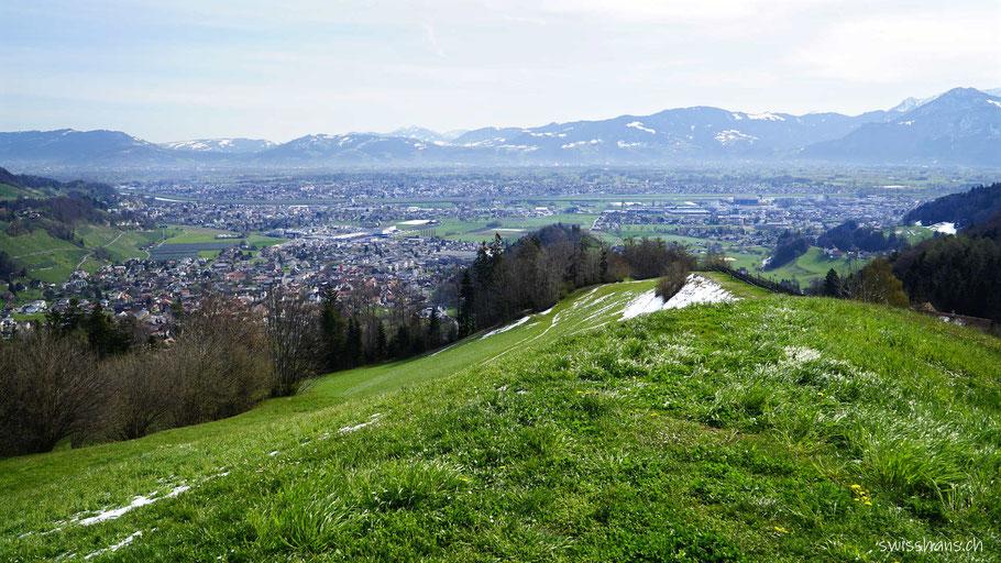 Aussicht auf dem Rosenberg bei Berneck