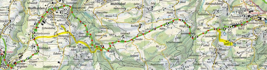 Karte von SchweizMobil vom Witzweg