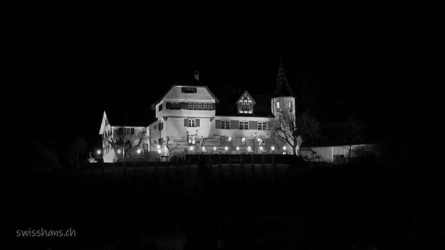 Nachtaufnahme Schloss Weinstein Marbach