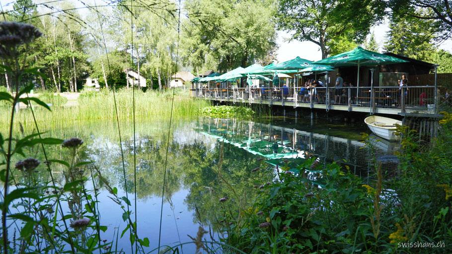 Gartenrestaurant Anglerparadies Güfel in Meiningen mit Fischteich