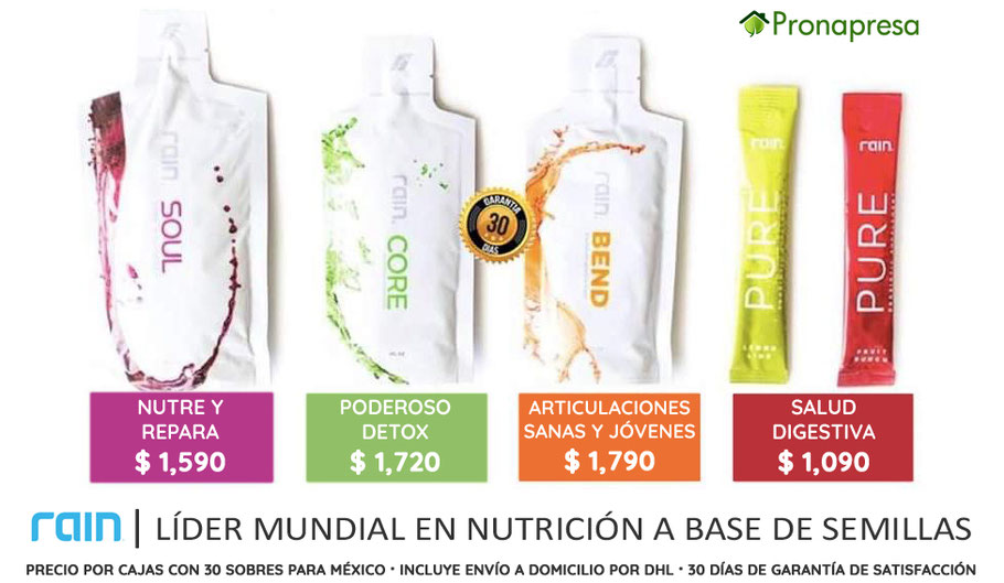 Precios de productos de Rain International México 2019