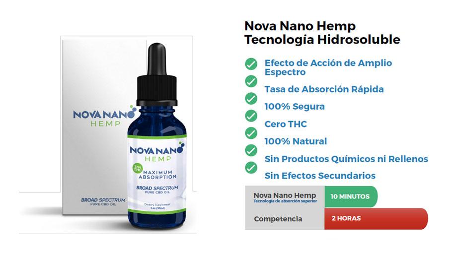 Características y Beneficios de Nova Nano Hemp (aceite de CBD)