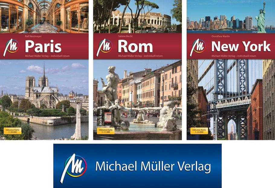 Reiseführer-Paris-Rom-New York-Michael Müller Verlag-kulturmaterial