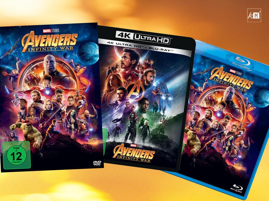 Avangers Infinity War Blu-ray - Marvel - kulturmaterial
