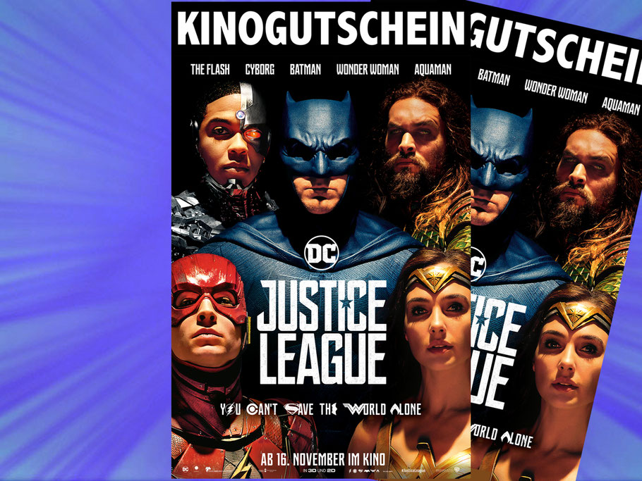 Justice League Gewinnspiel Verlosung - DC Comics - Warner Bros - kulturmaterial