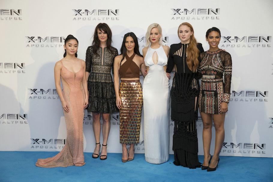 X-Men Apocalypse - Lana Condor - Rose Byrne - Olivia Munn - Jennifer Lawrence - Sophie Turner - Alexandra Shipp - Fox Kino - kulturmaterial