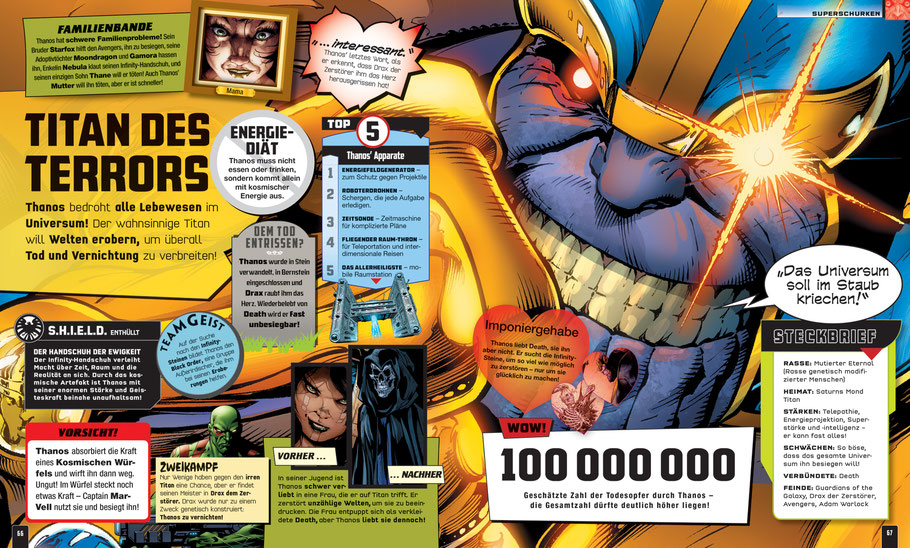 Marvel Bücher - Absolut Alles Was Du Wissen Musst - Dorling Kindersley - kulturmaterial - Thanos