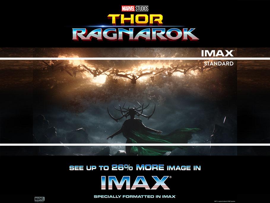 Thor 3 Tag Der Entscheidung im IMAX- Marvel - Imax - kulturmaterial - 26 Prozent mehr Kino