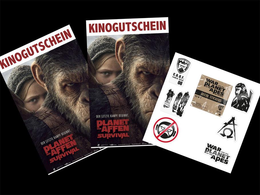 Planet der Affen Survival Gewinnspiel - SONY - kulturmaterial - Fanartikel
