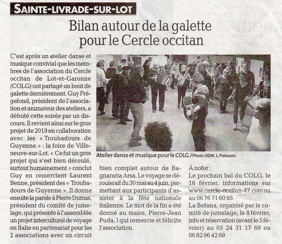 La Dépêche du Midi, 08/02/2020.