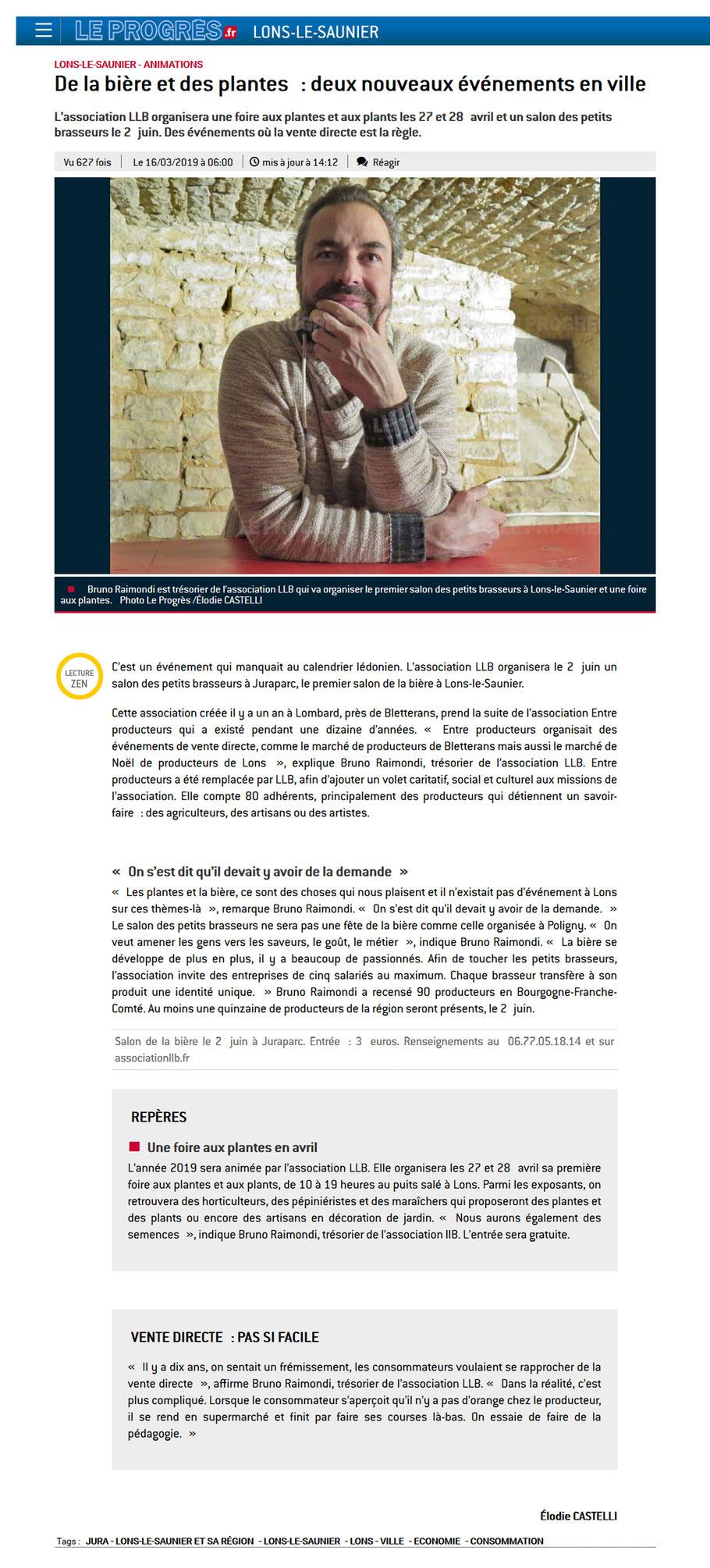 association de producteurs - association llb - lons le saunier - jura - franche comté