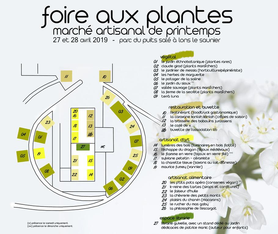 foire aux plantes - marché artisanal - producteurs du jura - lons le saunier - association llb