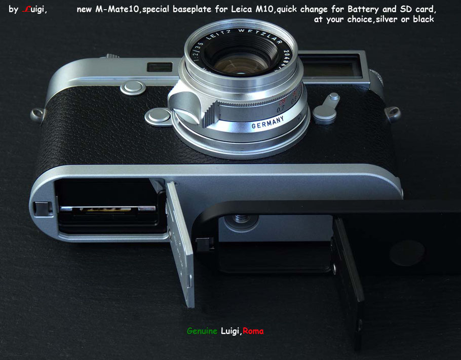 Details about LUIGI M-MATE10,SD+BATTERY CHANGE BASEPLATE,for LEICA M10,  M10P,M10D,BLACK/SILVER