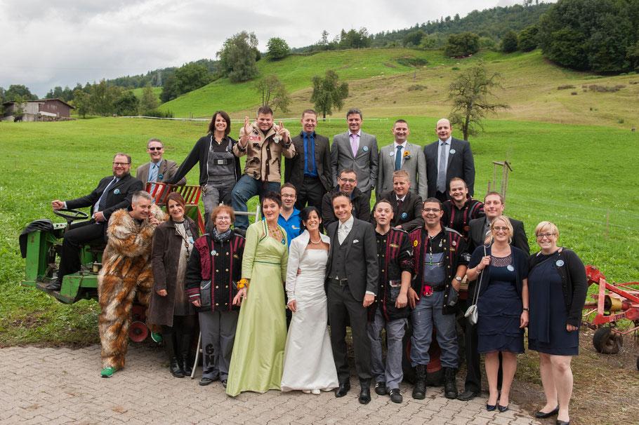 Die Poltis an der Hochzeit von Katja und Ivo Odermatt
