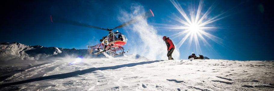 Helikopter Alpenrundflug mit Gletscherlandung