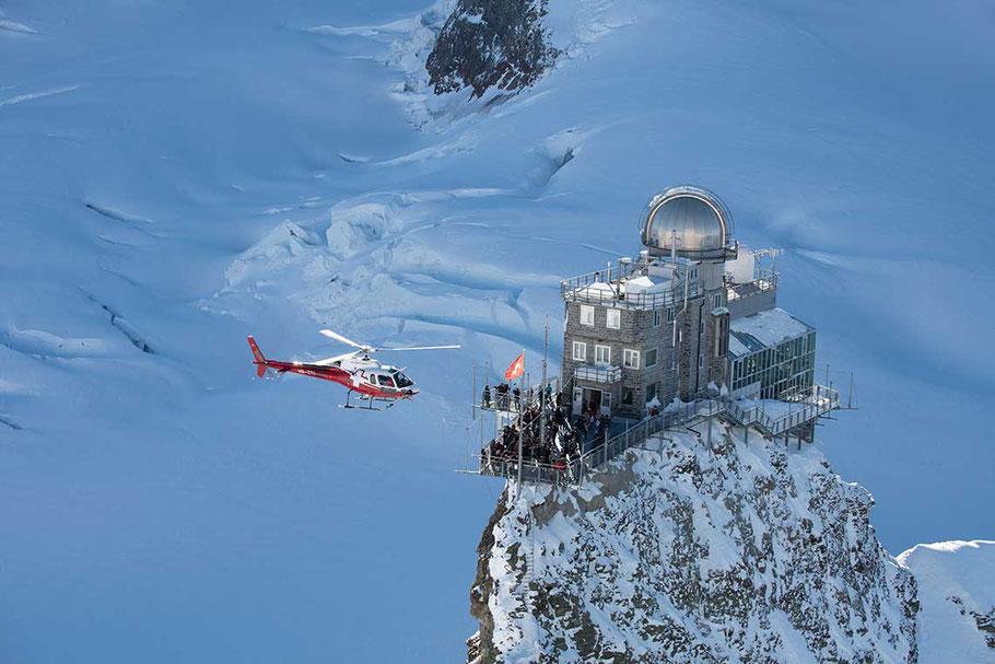 Vorbeiflug Sphinx Jungfraujoch