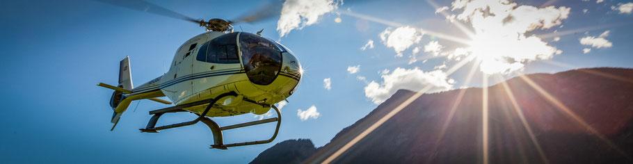 Helikopterflug im Tessin