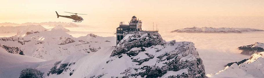 Jungfraujoch Helikoper von Zürich