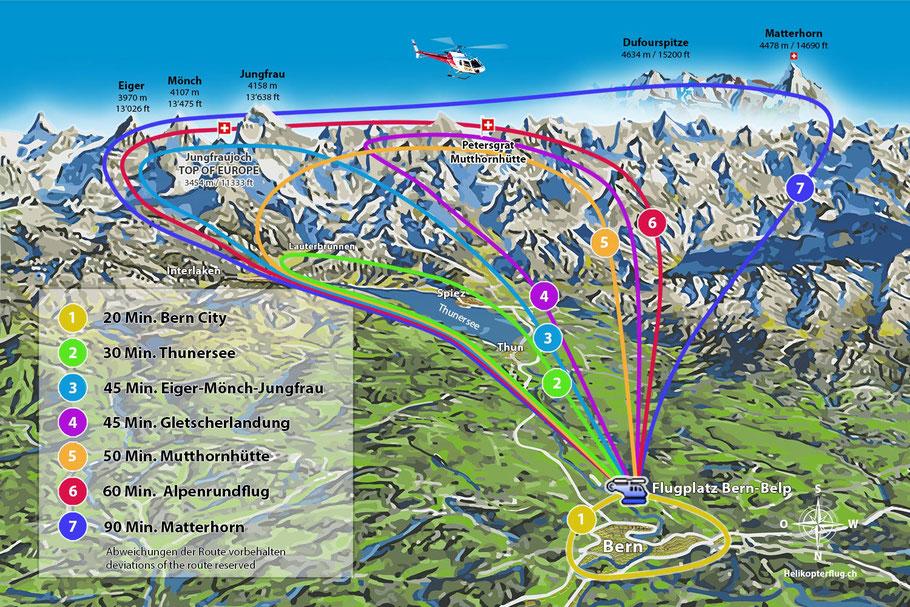 Panoramamap Bern