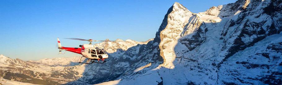 Helikopterflug Eiger