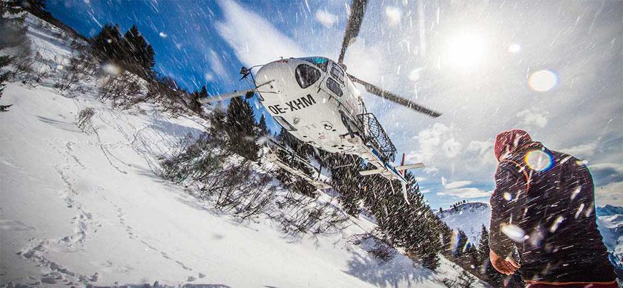 Ausflug mit dem Helikopter Schwesternegg
