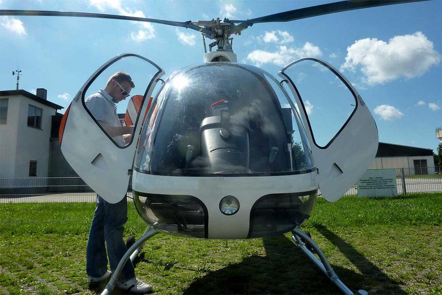 Flugvorbereitungen Helikopter
