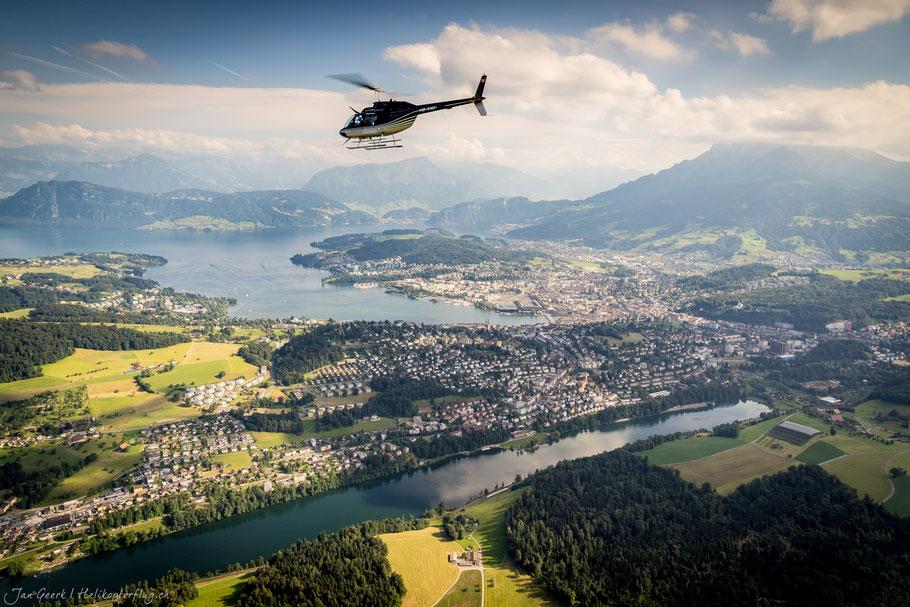 Helikopterflug Luzern