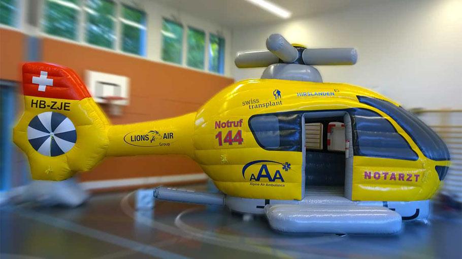 Hüpfburg Helikopter