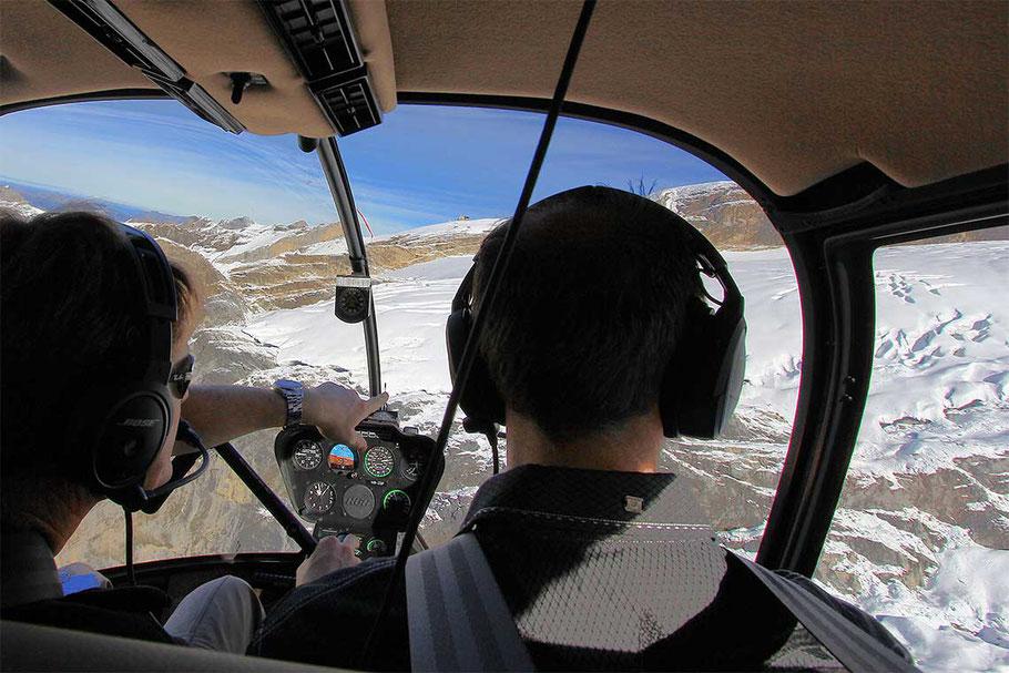 Alpenrundflug mit Gletscherlndung