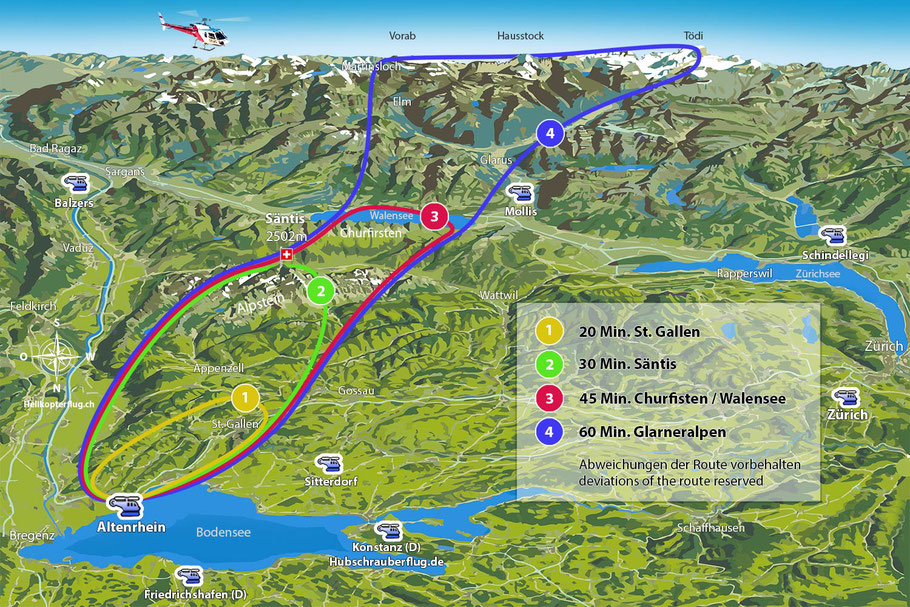 Rundflug map Altenrhein