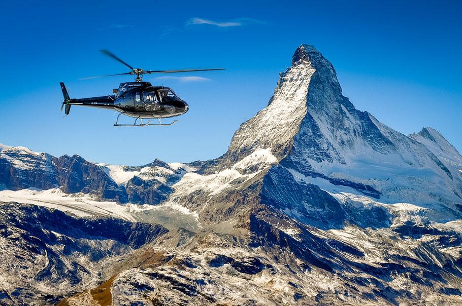 Matterhorn bei einem Helikopterrundflug