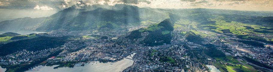 Helikopter Stadtrundflug Luzern
